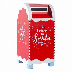 home accents holiday red letters to santa mailbox o1215 With mailbox letters