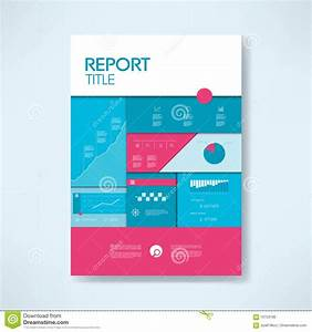 Annual Report Cover Template With Business Icons And ...