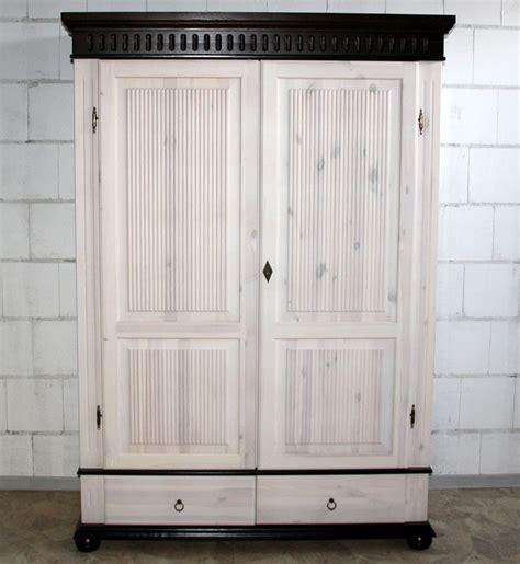 Schrank Weiß Lasieren by Kleiderschrank 2 T 252 Rig Wei 223 Kolonial Kiefer Massiv Poarta