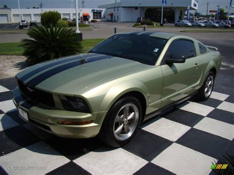 legend lime metallic ford mustang  deluxe coupe