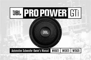 Jbl Car Audio Service Manuals