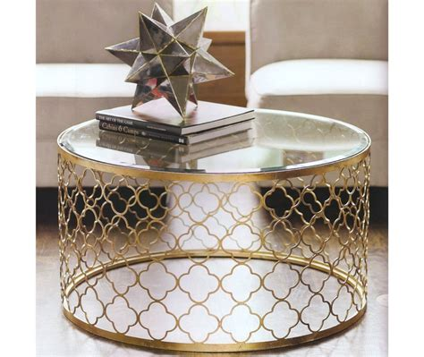 36 round tempered glass golden frame coffee table. Gold Coffee Table Design Images Photos Pictures