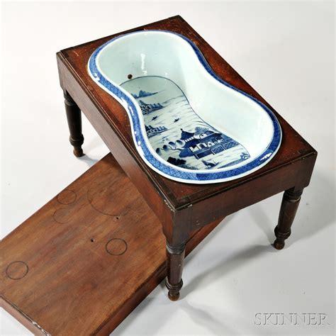 porcelain bidet canton porcelain bidet with mahogany stand sale number