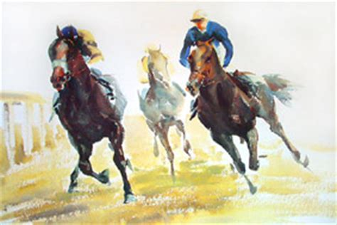 flat racing prints horseracing prints limited edition