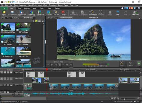 videopad video editing software screenshots
