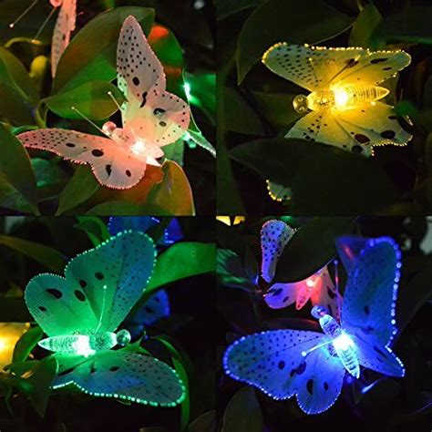 Butterfly String Lights by Ucharge Fiber Optic Butterfly Solar String Light 12 Led