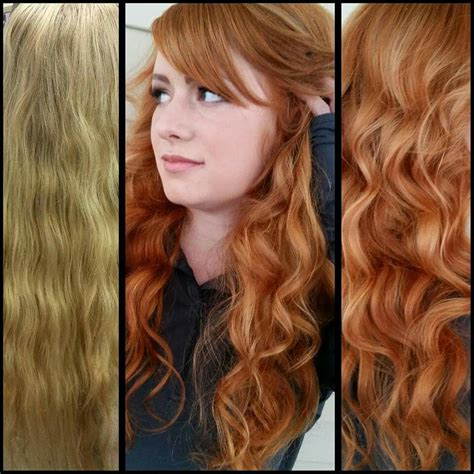 Before And After Blonde To Natural Red Ginger Hair