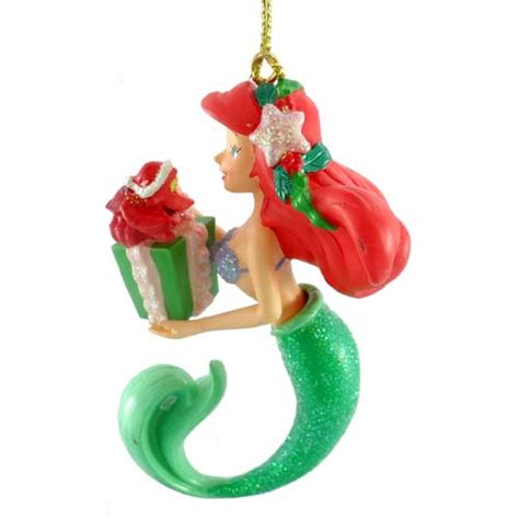your wdw store disney ornament mermaid ariel with gift - Little Mermaid Christmas Ornament