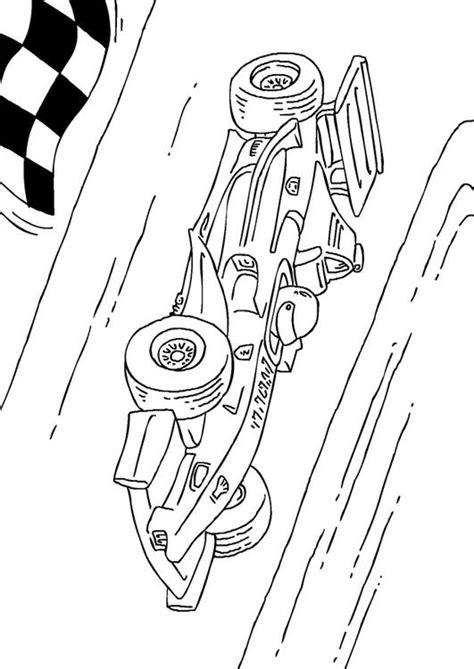 kleurplaat formule  race wagen afb