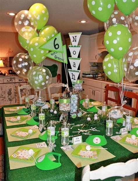 Sometimes party idea pros just comes across an idea or a site which might provide that little extra something playful you are searching for. boys golf themed birthday party setup in 2020   Golf party decorations, Golf birthday party ...