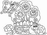 Coloring Garden Flower Pages Drawing Printable Gardens Flowers Boyama Children Plants Kid Simple Getdrawings Fabulous Planting Getcolorings Coloringpagesonly Watering Patio sketch template