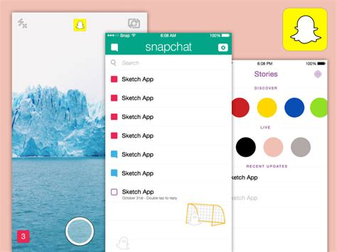 Snapchat Template Snapchat Ios Template Sketch Freebie Free