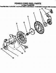 Power Cord Reel Parts Diagram  U0026 Parts List For Model
