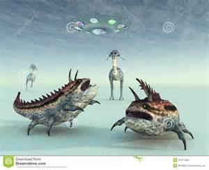 la vie extraterrestre illustration stock image 41411845