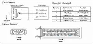 Hyundai Elantra  Mass Air Flow Sensor  Mafs   Schematic