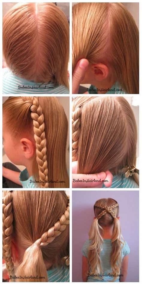 coiffure de fete petite fille coiffure simple  facile