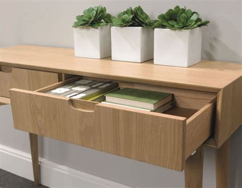 Stockholm Console Table With Drawers Walnut  Sofa Concept
