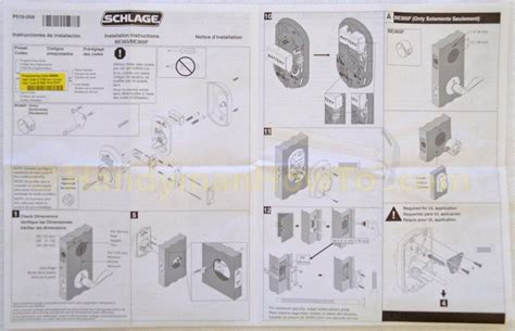 schlage templates how to install a schlage keypad deadbolt
