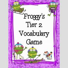 Winter Froggy Tier 2 Vocabulary Game  Snowflakes, Language And Colors