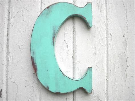wood letters for wall wooden letters c 12 inch patina wall decor