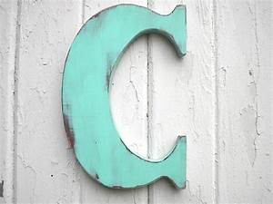 wooden letters c 12 inch patina wall decor kids With hanging wooden letters on wall