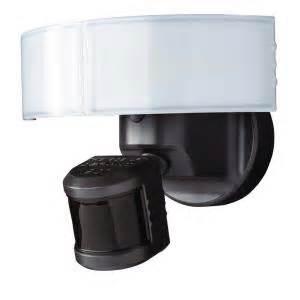 led security light home depot defiant 180 bronze led motion outdoor security light dfi