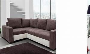 canape d39angle convertible marron et creme avec coffre medario With tapis ethnique avec canapé d angle 170 cm