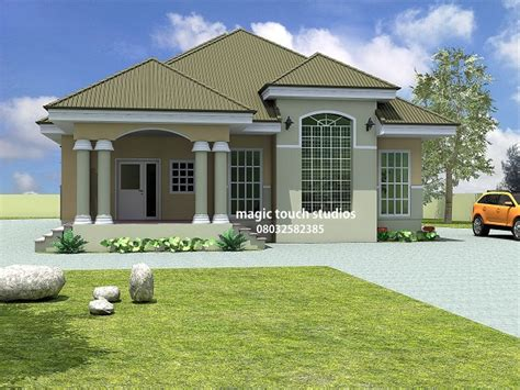 bedroom bungalow house plan  nigeria  bedroom floor