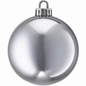 250mm SHINY BAUBLES - SILVER DZD