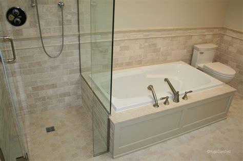 curbless marble shower ceramiques hugo sanchez