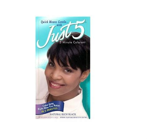 just 5 hair color just 5 s hair color rich black 3pack ebay