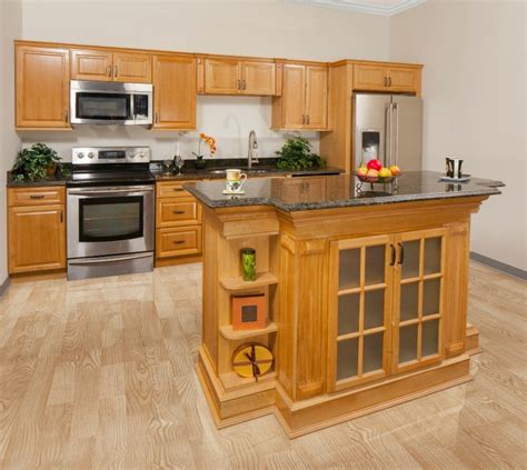 harvest oak pre assembled kitchen cabinets  rta store