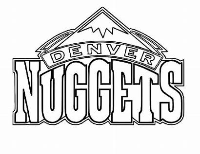 Coloring Pages Denver Nuggets Teams Sports Basketball