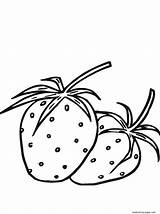 Fruit Strawberry Coloring Se125 Printable Adults sketch template