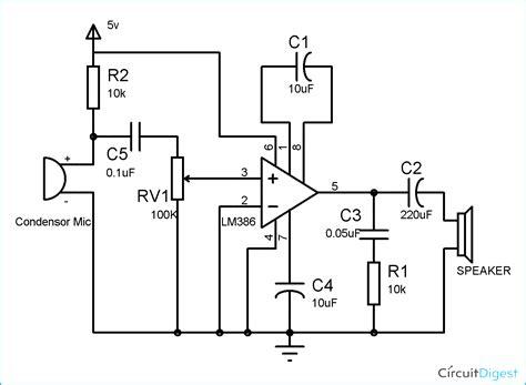 Component Audio Amplifier Circuit Diagram Simple