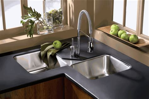 corner kitchen sink design ideas find the right corner kitchen sink material