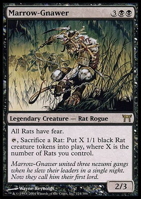 Relentless Rats Deck Tapped Out by Marrow Gnawer Chk Mtg Card