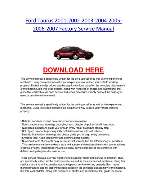 ford taurus        factory