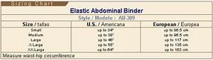 Gabrialla Compression Size Chart Elastic Abdominal Binder Standard 2xl White