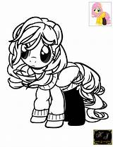 Fluttershy Coloring Kj Pages Newer Sama sketch template