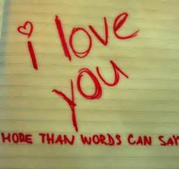 I Love You More than Words Can Say