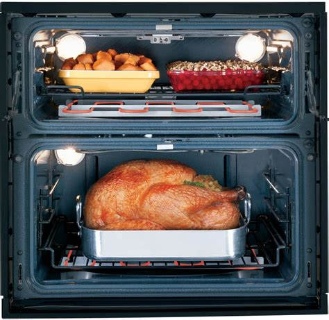 ge ptsnss   single double electric wall oven   cu ft preciseair convection