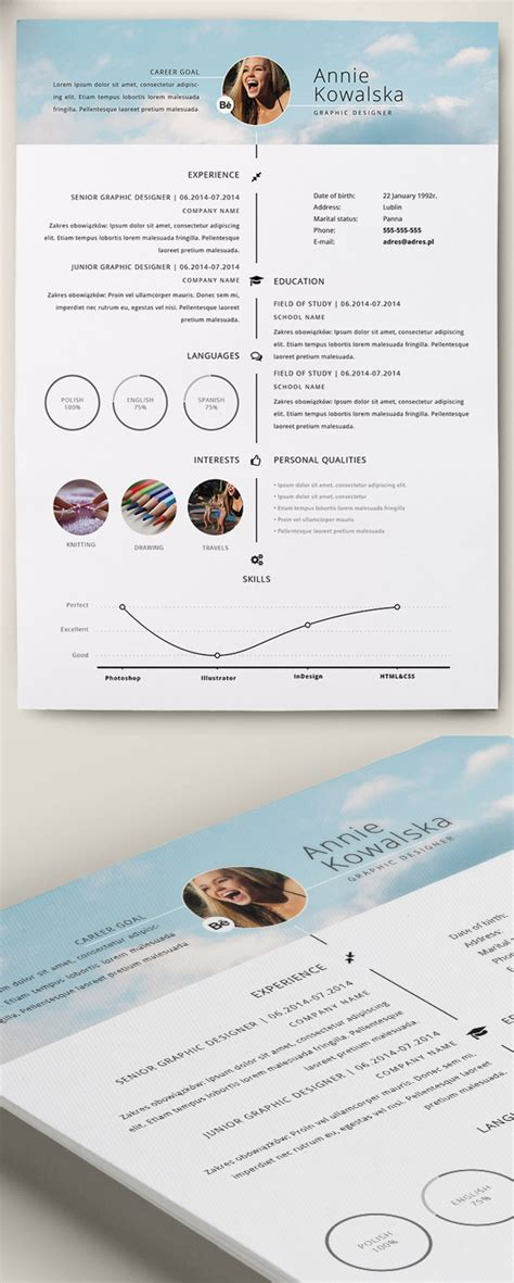 professional cvresume  cover letter psd templates