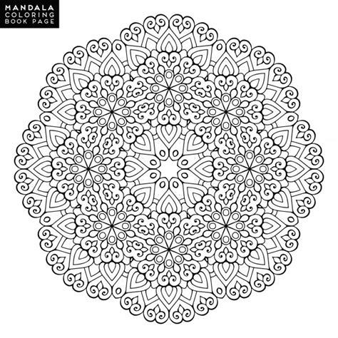 outline mandala  coloring book decorative