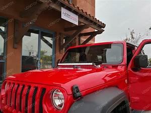 Jeep Wrangler Jl Hood Mounted Led Light Bar Install Guide