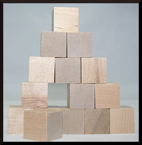 sized wooden blocks square blocks solid wood