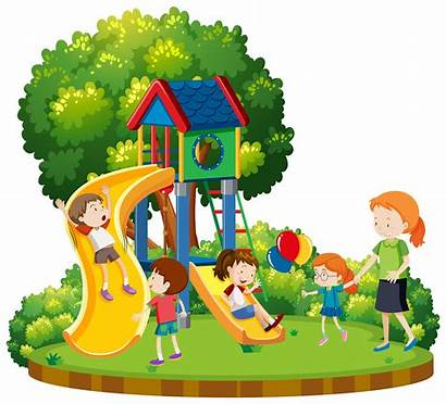 Playground Children Mother Illustration Child Vector Clipart
