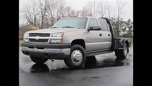 2003 Chevy 3500 Lt 4x4 Duramax Diesel 58k Miles Flat Bed