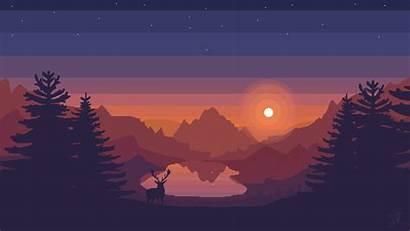 Pixel Wallpapers Background Computer 1080 Desktop Firewatch