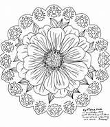 Zinnia Zinnias Doilies sketch template